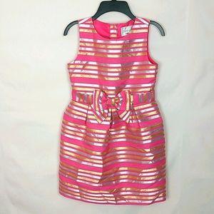 Gymboree Pink Gold Silver Girls Dress Size 10